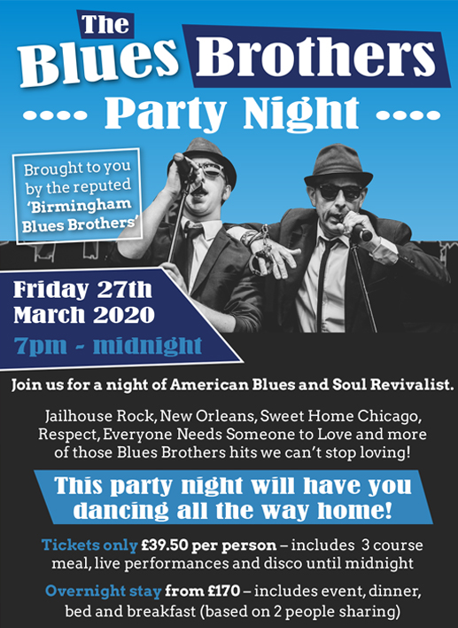 Blues Brothers Party Night , Lynford Hall, Norfolk 2020