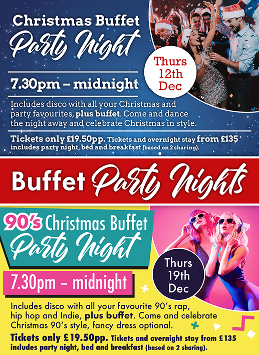 90's buffet party night, Norfolk