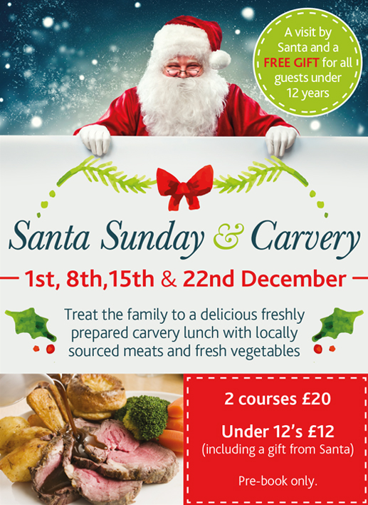 Santa Sunday and Carvery 2019, Norwich, Norfolk