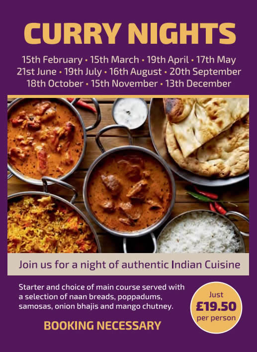 Join us for a night of authentic Indian Cuisine